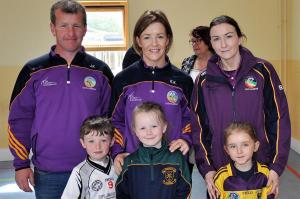 Mick and Kate Kelly with their niece and nephew and Bríd Gordon with her niece.
